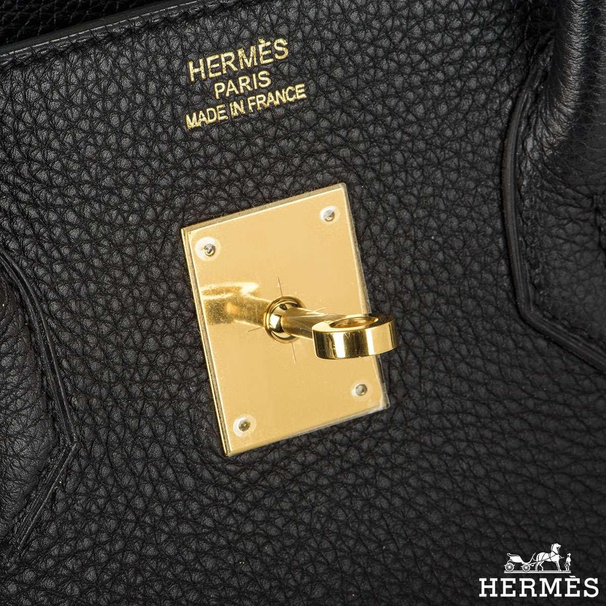 Hermes Birkin 35 cm Black togo leather handbag